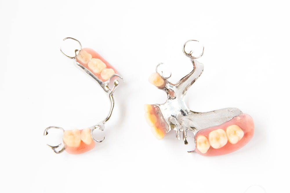 Two different partial dentures